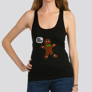 Oh Snap Gingerbread Man Racerback Tank Top