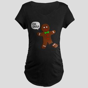 Oh Snap Gingerbread Man Maternity T-Shirt