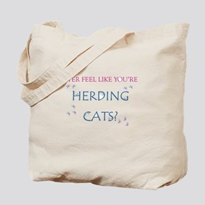 Herding cats color Tote Bag