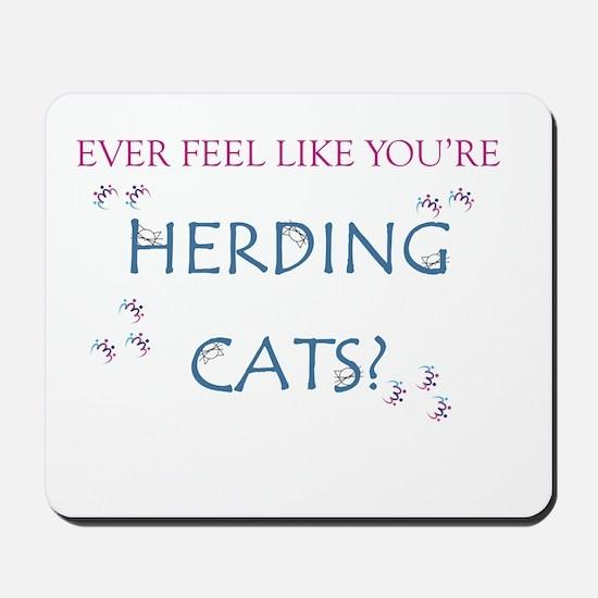 Herding cats color Mousepad