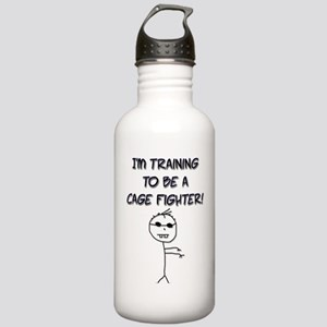 I'm Training to be a Cage Fighter! Water Bottle