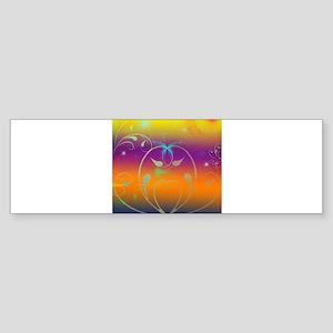 Butterflies and Cosmos Bumper Sticker