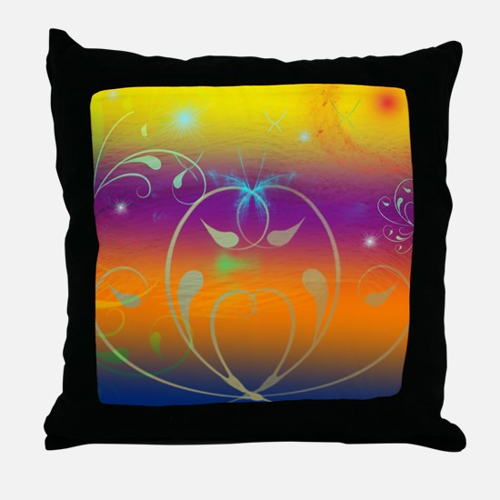 Butterflies and Cosmos Throw Pillow
