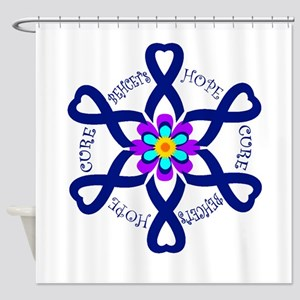 Behcets Hope Cure Circle of Ribbons Shower Curtain