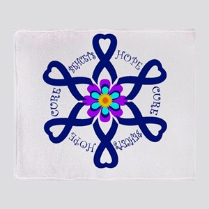 Behcets Hope Cure Circle of Ribbons Throw Blanket