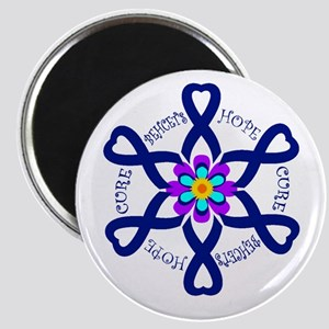 Behcets Hope Cure Circle of Ribbons Magnet