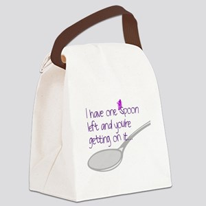 One Spoon Left Canvas Lunch Bag