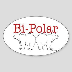 Bi-Polar Oval Sticker