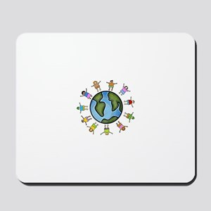 peace love multicultural children Mousepad