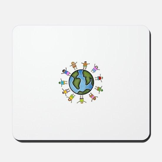 peace love multicultural children Mousepad