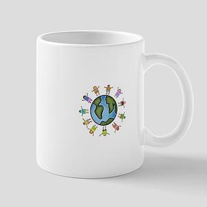 peace love multicultural children Mug
