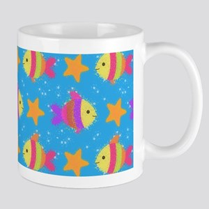 Cute Fish And Starfish Pattern Mugs