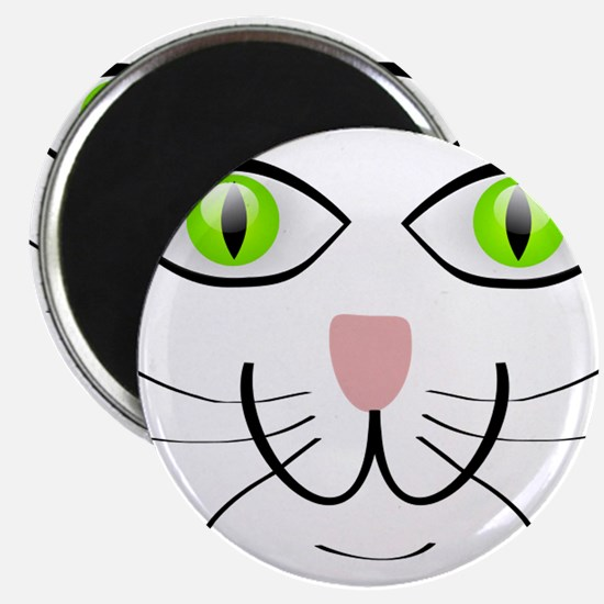 "Green-Eyed Cat Face 2.25"" Magnet (10 pack)"