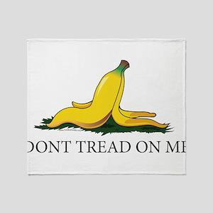 Dont Tread On Me Banana Peel White Throw Blanket