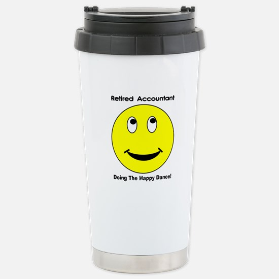 Retired Accountant happy dance Travel Mug