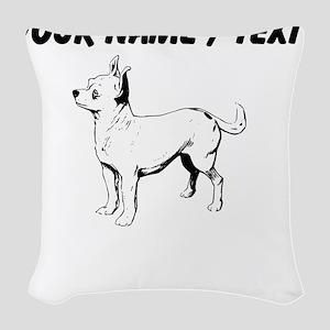 Custom Chihuahua Sketch Woven Throw Pillow