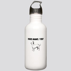 Custom Chihuahua Sketch Sports Water Bottle