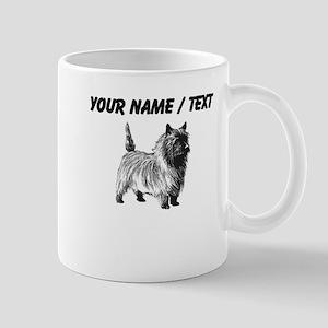 Custom Cairn Terrier Sketch Small Mug
