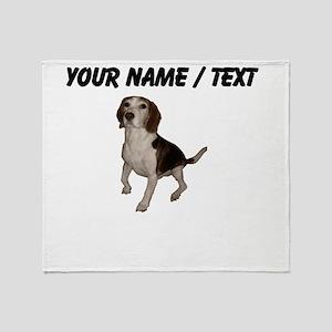 Custom Beagle Throw Blanket