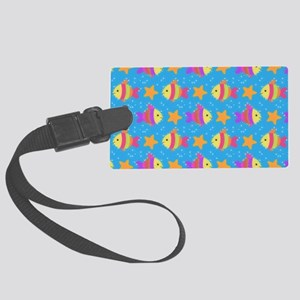 Cute Fish And Starfish Pattern Large Luggage Tag
