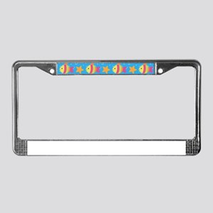 Cute Fish And Starfish Pattern License Plate Frame