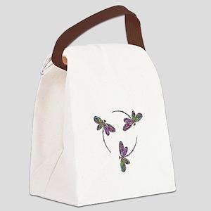 Neon Dragonfly Trinity Canvas Lunch Bag