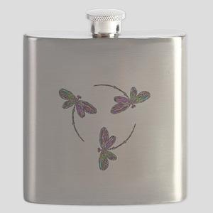 Neon Dragonfly Trinity Flask