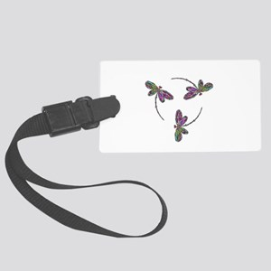 Neon Dragonfly Trinity Large Luggage Tag