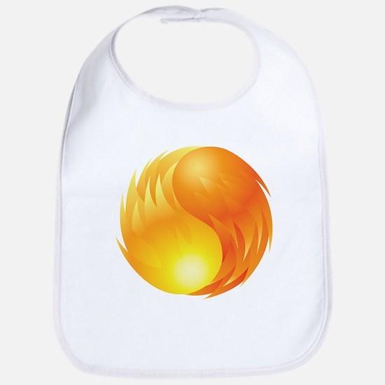 Elemental Fire - Yin Yang - Balance - Flames Bib