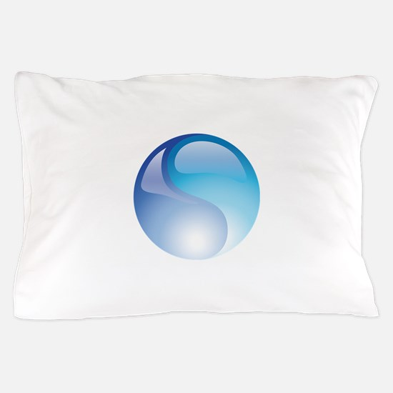 Elemental Water - Yin Yang - Blue - Balance Pillow