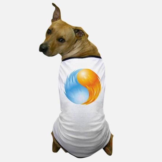 Fire and Ice - Yin Yang - Balance Dog T-Shirt