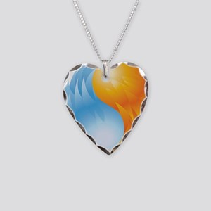 Fire and Ice - Yin Yang - Balance Necklace