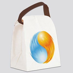 Fire and Ice - Yin Yang - Balance Canvas Lunch Bag
