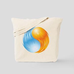 Fire and Ice - Yin Yang - Balance Tote Bag