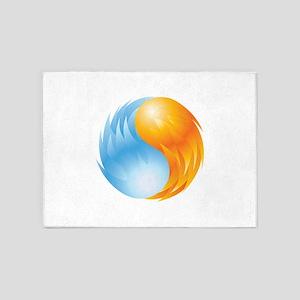 Fire and Ice - Yin Yang - Balance 5'x7'Area Rug