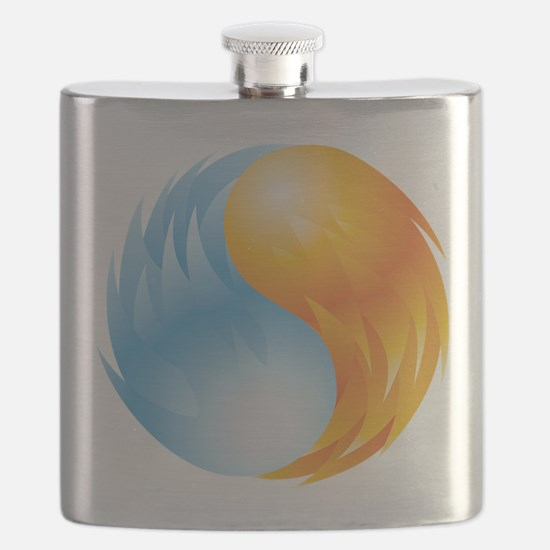 Fire and Ice - Yin Yang - Balance Flask