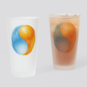 Fire and Ice - Yin Yang - Balance Drinking Glass