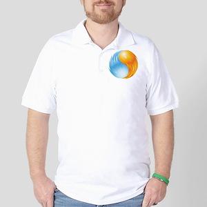 Fire and Ice - Yin Yang - Balance Golf Shirt