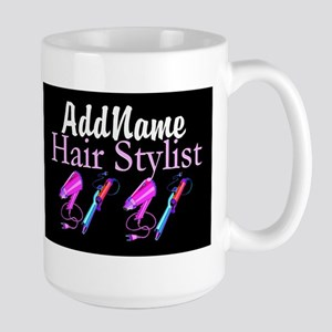 SNAZZY HAIR STYLIST Large Mug