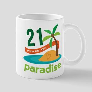 21st Anniversary (Paradise) Mug
