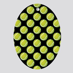 Tennis Balls Ornament (Oval)