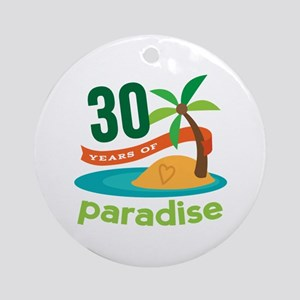 30th Anniversary (Paradise) Ornament (Round)