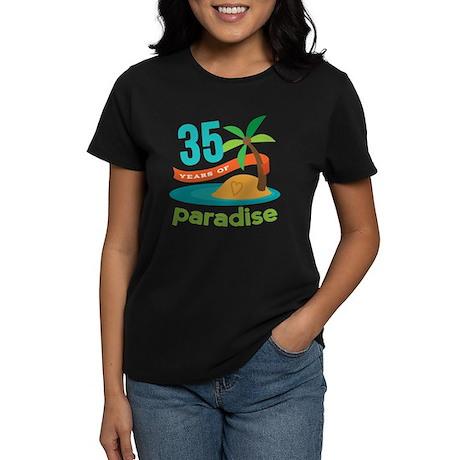 35th Anniversary (Tropical) Women's Dark T-Shirt