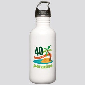 40th Anniversary (Tropical) Stainless Water Bottle