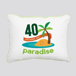 40th Anniversary (Tropical) Rectangular Canvas Pil