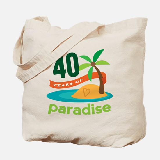 40th Anniversary (Tropical) Tote Bag