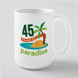 45th Anniversary (tropical) Large Mug