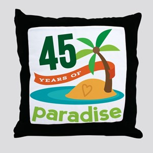 45th Anniversary (tropical) Throw Pillow