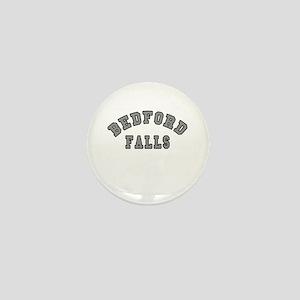 Bedford Falls Grey Lettering Mini Button