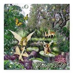 Fairy Tales Square Car Magnet 3